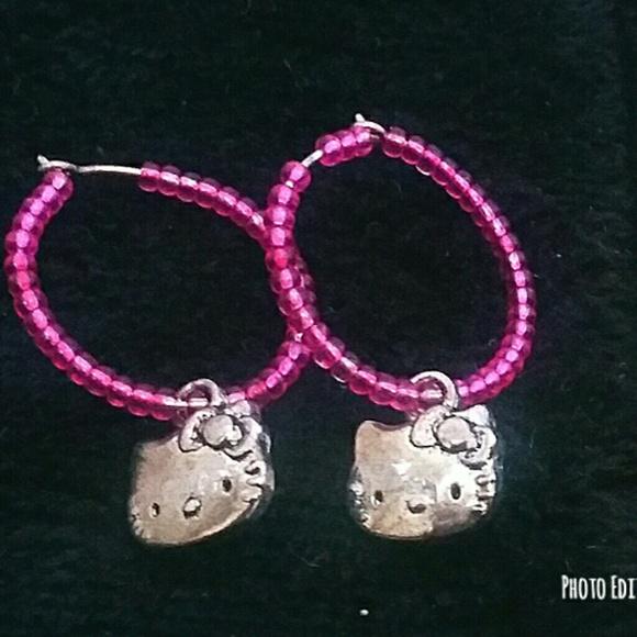 48cafd82b Sanrio Jewelry Beaded Hello Kitty Hoop Earrings Poshmark